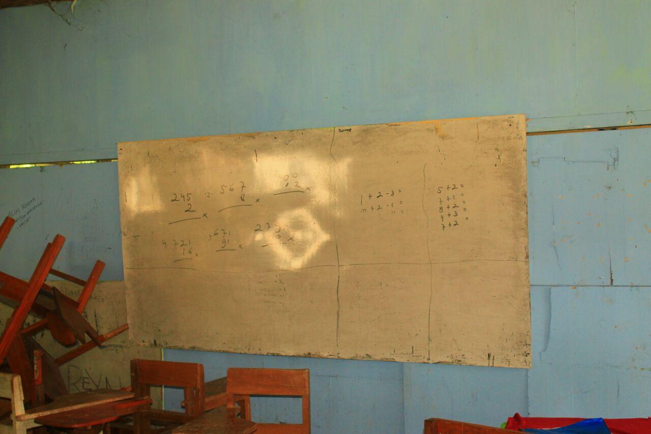 Kondisi ruang kelas SMK PGRI Kota Gorontalo