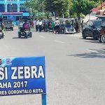 Operasi Zebra 2017 Hari Pertama, Satlantas Polres Kota Gorontalo Jaring Sekitar 50 Kendaraan
