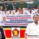 Boyong Seluruh PAC, Gerindra Boalemo Deklarasikan Prabowo Capres 2019
