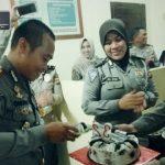 Ultah ke 32, Kasat Lantas Polres Gorontalo Dapat Surprise dari Anggotanya