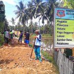 Desa Hutabohu, Sukseskan Program Padat Karya