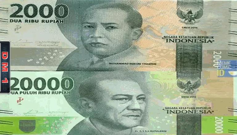 Dibilang Mirip Banyak Yang Bingung Bedakan Uang Kertas Rp 2000 Dan Rp 20 000 Dm1