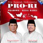 Capres-Cawapres 2019 yang Tepat, PRO-RI: Prabowo-Rizal Ramli, Pro Rakyat Indonesia