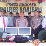 Ungkap Kasus Pencurian, Polres Boalemo Gelar Press Release