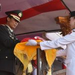 Kelompok Bangsa Sukses Jalankan Tugas dalam Upacara Penurunan Bendera di Kabgor
