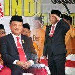 Ketua DPRD Gorontalo Hadiri Upacara Penurunan Bendera di Rudis Gubernur