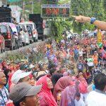 Ribuan Massa Aksi 189 Hadang Upaya Pelengseran Bupati Boalemo