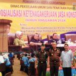 Dinas PUPR Kota Gorontalo Gelar Sosialisasi Ketenagakerjaan Jasa Konstruksi Tahun 2018