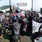 Warga Garut Konvoi Kibarkan Bendera Tauhid Mengutuk Banser