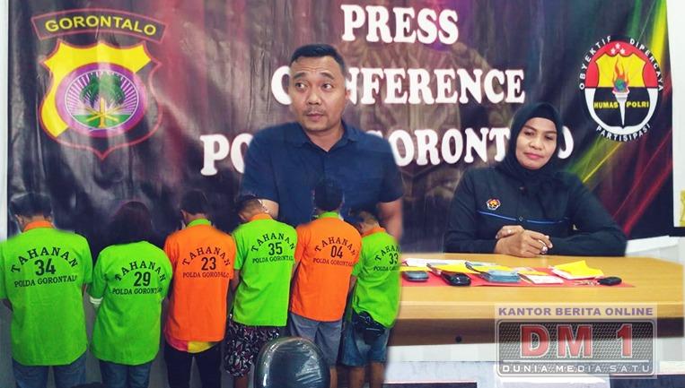 Polda Gorontalo Gelar Press Conference Kasus Narkoba, Ternyata Bandarnya Korban Bencana Palu