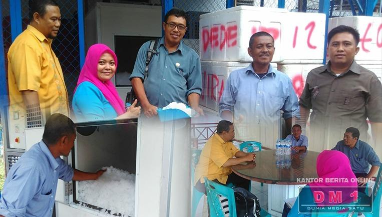 DKP Provinsi Gorontalo Monitor Bantuan Mesin Ice Flake di Koperasi NDC