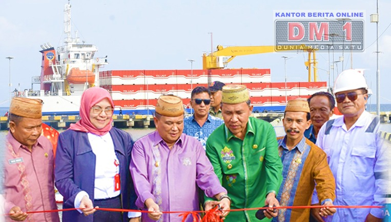 Wagub Gorontalo dan Wabup Boalemo Resmikan Pelepasan Kapal Tol Laut Kendhaga Nusantara