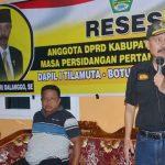 Ketua DPRD Boalemo Oktohari, Serap Keluhan dan Aspirasi Desa Ayuhulalo