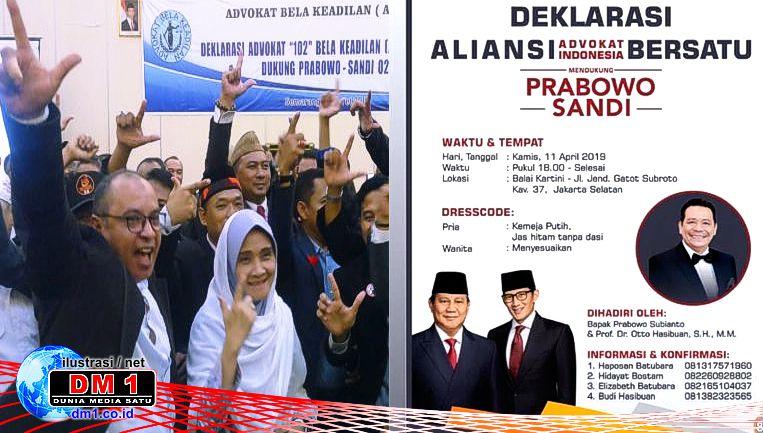 Kecewa Kepada Jokowi, Kamis Besok Aliansi Advokat Deklarasi Dukung Prabowo