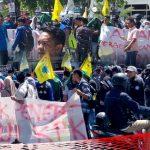 Gelar Demo, PMII Gorontalo Tolak RUU KPK