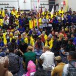 Mahasiswa dan  Anggota DPRD Kabupaten Gorontalo Berdialog Melantai Terkait Tuntutan Aksi