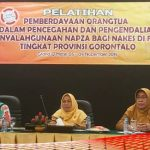 Cegah Penyalahgunaan NAPZA, Dikes Provinsi Gorontalo Gelar Pelatihan Pemberdayaan Orangtua
