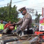 78 Knalpot Racing Dimusnahkan Satlantas Polres Gorontalo Kota
