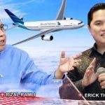 """""""Penyelamatan"""" Garuda: Dari Rizal Ramli Hingga ke Erick Thohir"""
