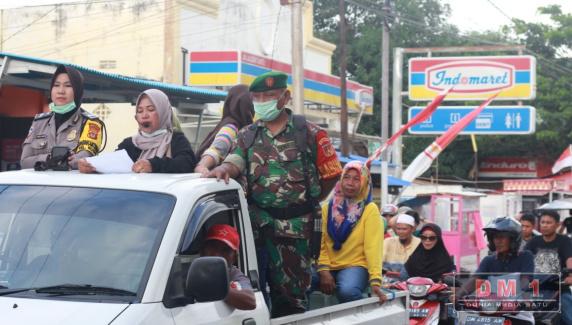 Berkeliling Kota Gorontalo, Pemkot Sosialisasikan Pencegahan Penyebaran COVID-19