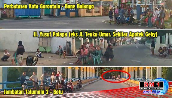 Tak Takut Covid19, Para ABG ini Pasang Kursi di Tengah Jalan Berkerumun Layaknya Sedang Rapat