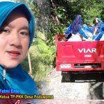 Meski Jalan Rusak, Namun Semangat Ibu-ibu PKK Desa Poduwoma Tetap Begelora