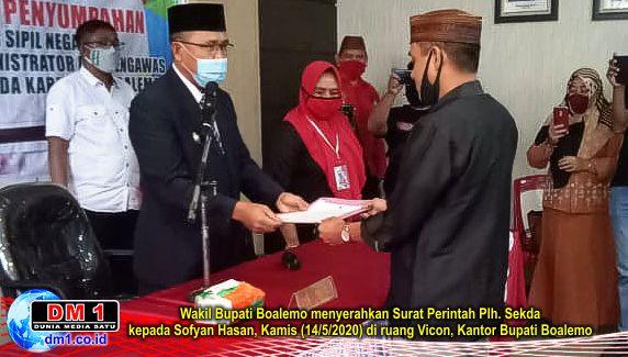 Dinilai Punya Loyalitas Tinggi, Sofyan Hasan Jabat Plh. Sekda Boalemo