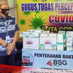 BSG Beri Bantuan APD ke Pemkot Gorontalo, Marten Taha: Covid19 Masalah Bersama