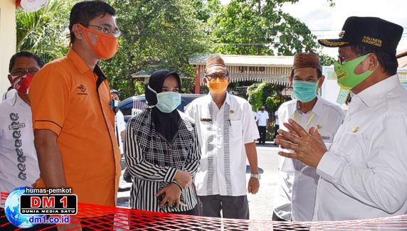 Wali Kota dan Wawali Gorontalo Pantau Penyaluran BST Tahap kedua ke 1.663 KPM