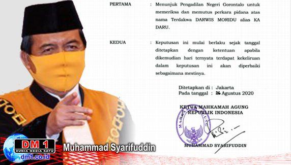 Ketua MA Tunjuk PN ini Dudukkan Bupati Darwis Sebagai Terdakwa