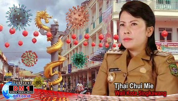 Wali Kota Singkawang Tjhai Chui Mie Beserta Suami dan Anak Positif Covid19