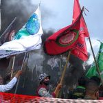 Demo Ciptaker di Gorontalo Ricuh, Buruh dan Mahasiswa Serukan Revolusi