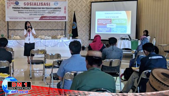 Sosialisasi Program Rehabilitasi dan Pascarehabilitasi, BNNP Gorontalo Dapat Dukungan