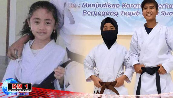 Siswi Atlet Nasional Karateka Ikuti Ujian Kenaikan Sabuk di Wadokai Bonebol