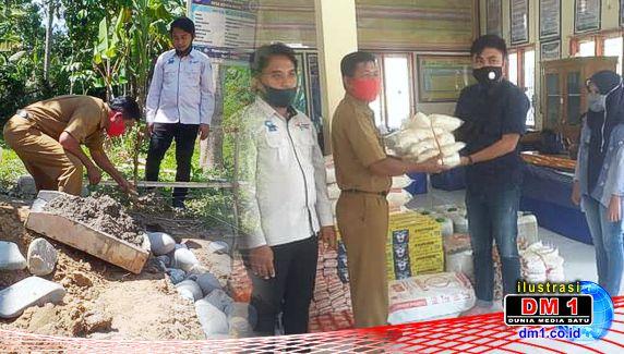 Bangun RHP, Kades Bondaraya juga Serahkan Bantuan UMKM