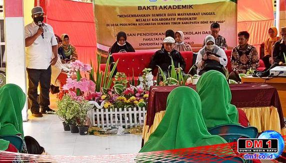 Bakti Akademik: Desa Poduwoma Jalin MoU dengan HMJ PGSD-UNG