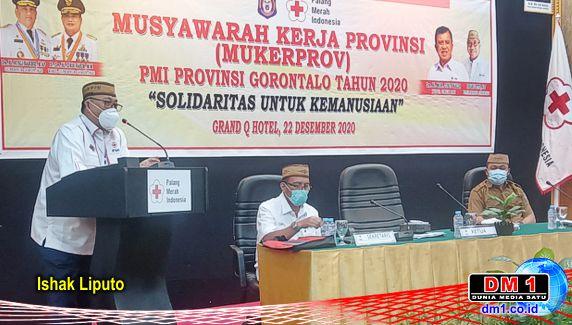 Gubernur Rusli Habibie Terima Penghargaan dari KPK: Tepuk Tangan Menggema di Muker PMI Prov. Gorontalo