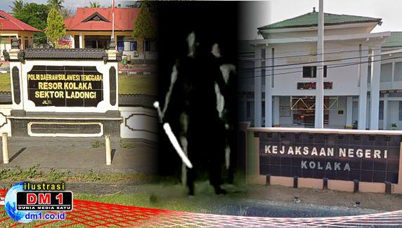"""Polsek Ladongi Serahkan Kades """"Samurai"""" ke Kejaksaan Kolaka"""