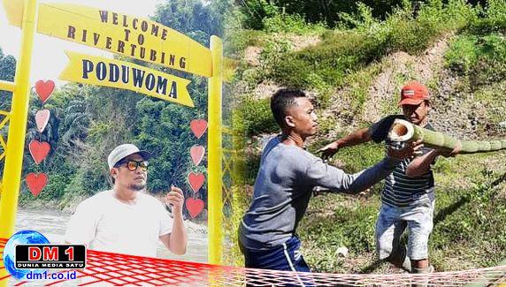 Karang Taruna Desa Poduwoma Gotong Royong Benahi Wisata Arung Jeram
