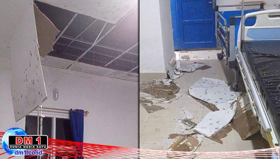 Plafon Puskesmas Tirawuta Ambruk, Sudah Seminggu Kamar Inap Ditutup