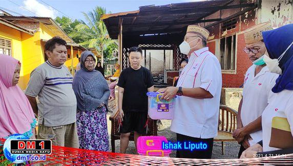 PMI Provinsi Gorontalo Distribusi Bantuan Kemanusiaan Korban Kebakaran di Tamalate