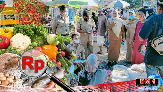 Jelang Idul Fitri 1442 H, Plt Bupati Koltim Sidak Harga Sembako di Pasar