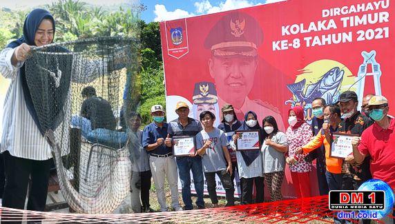Plt Bupati Koltim Juara I Lomba Memancing: Konsumsi Ikan Koltim 54,49 Kilogram per Kapita