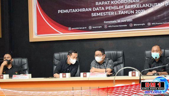 KPU Provinsi Gorontalo: PDPB Semester Pertama 2021 Jumlah Pemilih Naik
