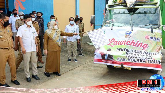 Pemkab Koltim Launching Beras PPKM, Bupati Mery: Tidak Ada Unsur Politik