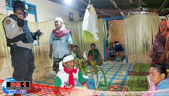Warga Desa ini Adakan Ritual Usir Corona, Tim Polsek Tilamuta Bertindak