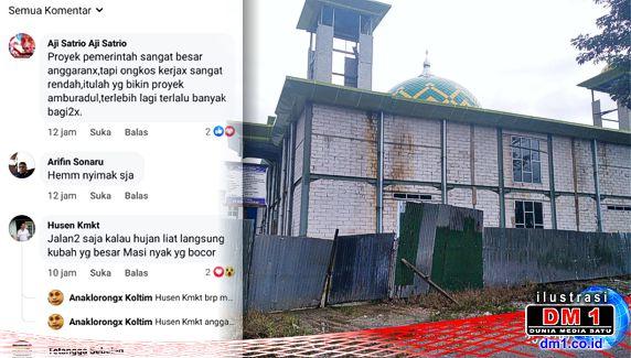 """Netizen Koltim """"Berkicau"""": Soroti Kondisi Buruk Proyek Miliaran Rupiah Masjid Jabal Nur Rate-rate"""