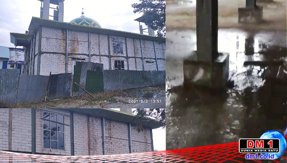 """Air Hujan pun """"Tunjukkan Ketidak-becusan"""" Pengerjaan Masjid Jabal Nur Rate-rate"""