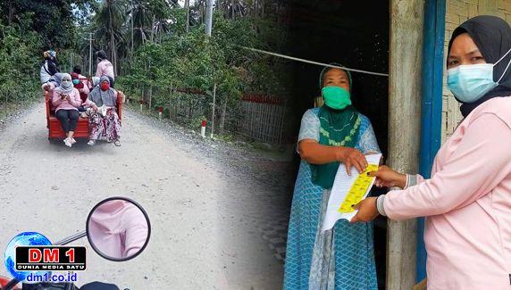 Menuju Masyarakat Sehat, Satgas PPKM Desa Poduwoma Door to Door