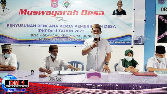Desa Molamahu Gelar Musdes RKPDes 2022, Kades Erwis: Program Pembangunan Harus Lebih Baik